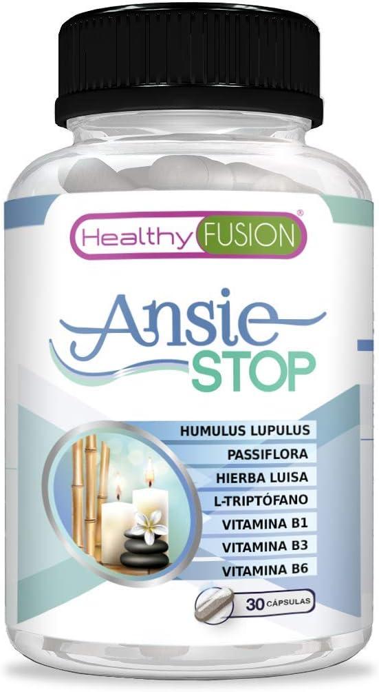 Triptófano con pasiflora para combatir los síntomas del estrés y la ansiedad | Acaba con el nerviosismo y facilita y fomenta el descanso | Propiedades antiestrés y relajantes naturales | 30 unidades: