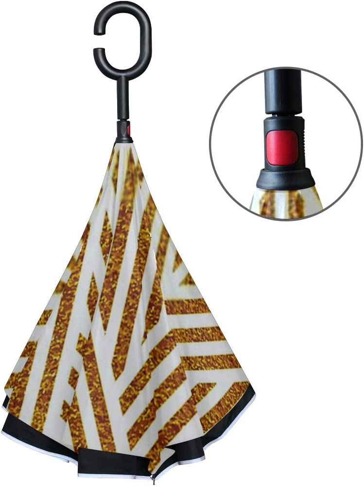 Double Layer Inverted Inverted Umbrella Is Light And Sturdy Geometric Striped Ornament Vector Gold Seamless Reverse Umbrella And Windproof Umbrella E