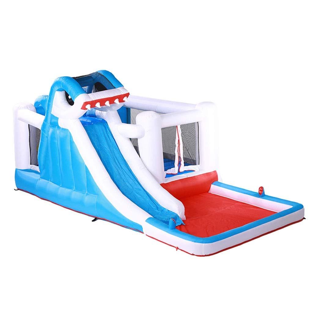 Daxiong Aufblasbare Shark Castle Home Trampolin Kinder springen Bett Kindergarten Naughty Castle Outdoor Large Square Spielzeug  480280225cm