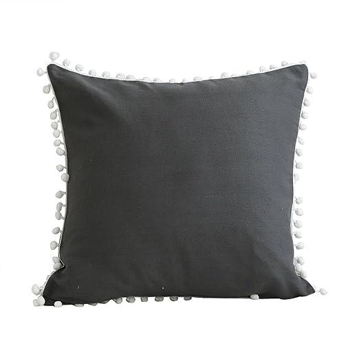 Westeng Funda de Cojín Almohada para Home Coche Sofá Almohada Caso Duradero Decoración Algodón Diseño Borla (con exclusión de Almohada) Size 45 * 45cm ...