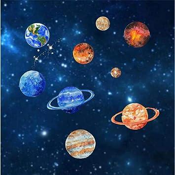 Zxfcccky Etiqueta De La Pared Planetas Del Sistema Solar