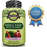NATURELO Whole Food Multivitamin for Women - #1 Ranked - Natural Vitamins, Minerals, Raw Organic Extracts - Best Supplement for Energy and Heart Health - Vegan - Non GMO - 120 Capsules