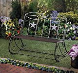 LONE STAR OUTDOOR ROCKING BENCH PATIO PORCH YARD GARDEN DECOR~10016670 ,product_by: primo_bella_cosa~hee198221689936059