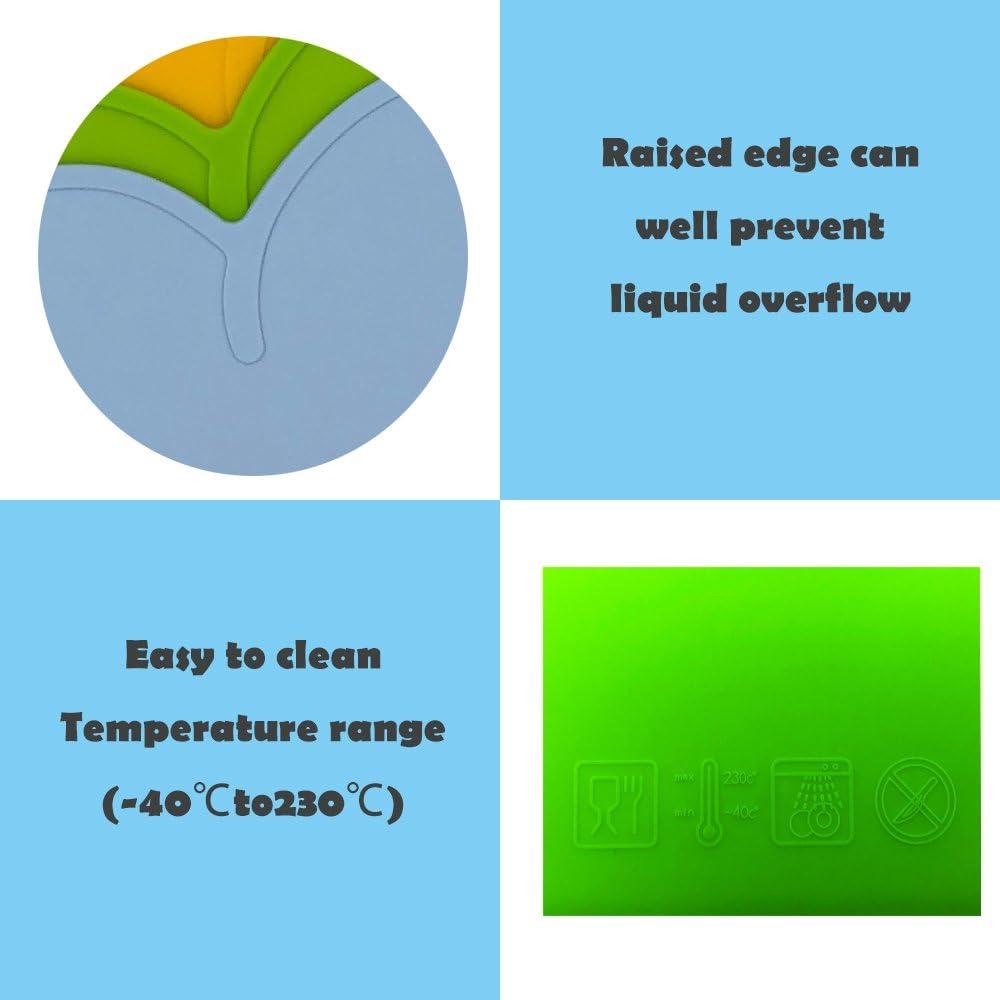 BITEYI Salvamantel,Silicona Mantel Mat Mantel Individual Estera de Tabla para Beb/é y Ni/ño,Forma de Nube,Lavable,Antideslizante Rosa
