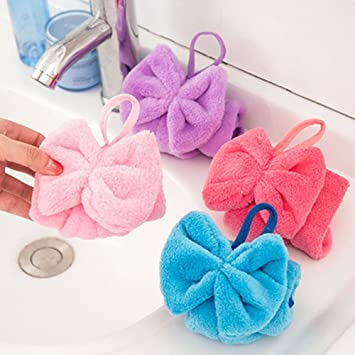 Amazon.com: ORYOUGO 4pcs Hand Towels,Coral Fleece Microfiber Quick Dry Hanging Hand Drying Towel, Dish Cloth, Wipes Rags for Kitchen & Bathroom, ...