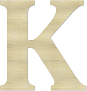 """12"""" Wooden Letter & Numbers Unfinished Wood Letters Paint Ready Wall Decor Home Decoration 1/8"""" Thickness DIY Projects"""