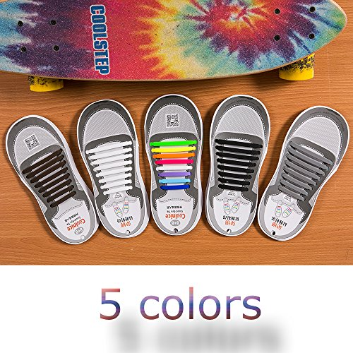 Chaussures Pour Bottes Laçage Sports Sans Sneaker Conseil Tie Lacets Enfants Adultes Pratique blanc No Coolnice Etanche Elastiques Shoes Silicon Imperméables Homme qwFxSIUAxX