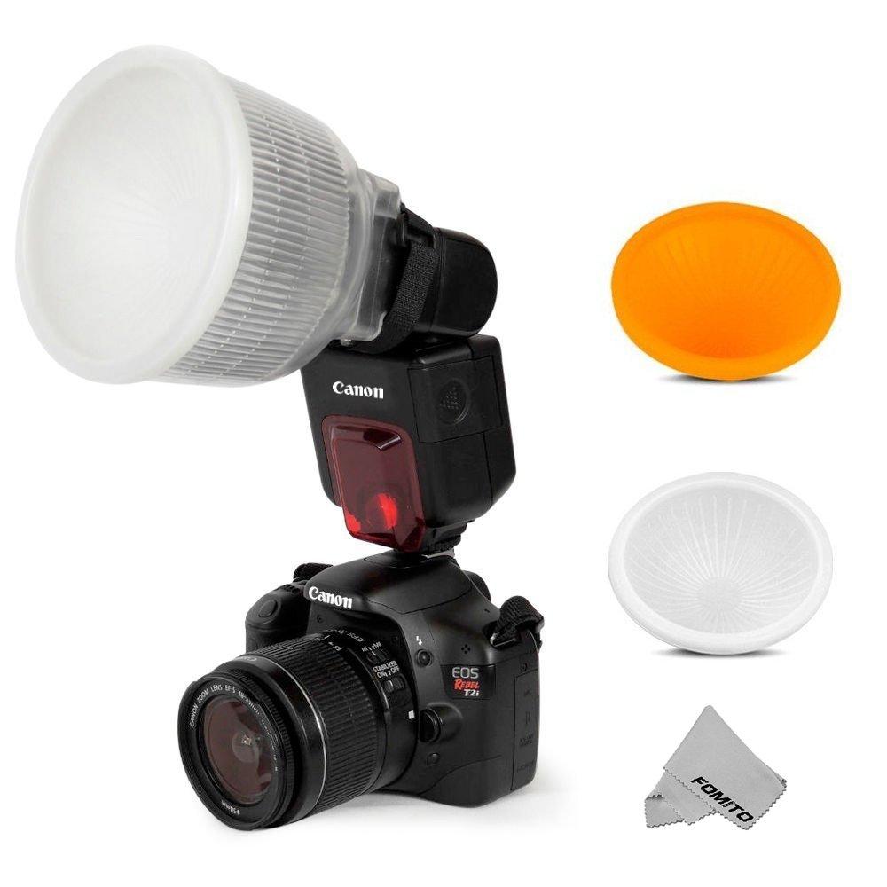 Fomito Universal Cloud Lambency Flash Diffuser + Cover White & Orange Set for Flash Speedlite COMINU040213