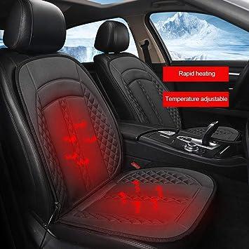 Esplic Universal 12V Beheiztes Autositzkissen Auto Hitze Sitzkissen Cover Pad Fit F/ür Die Meisten 12V Fahrzeuge Multifunktions-Autositzheizung Beheizt Kissenw/ärmer