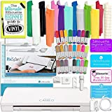 Silhouette Cameo 3 Bluetooth Bundle with 12x12 Sheets of Oracal 651 Vinyl, 24 Sketch Pens, Pixscan Mat, Guide Books, and More