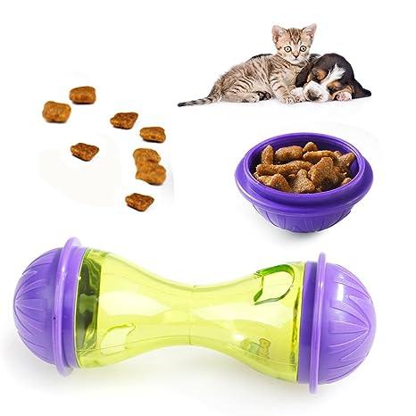 Dispensador de alimentos para mascotas, alimentador divertido de cuenco de entrenamiento para mascotas, juguete