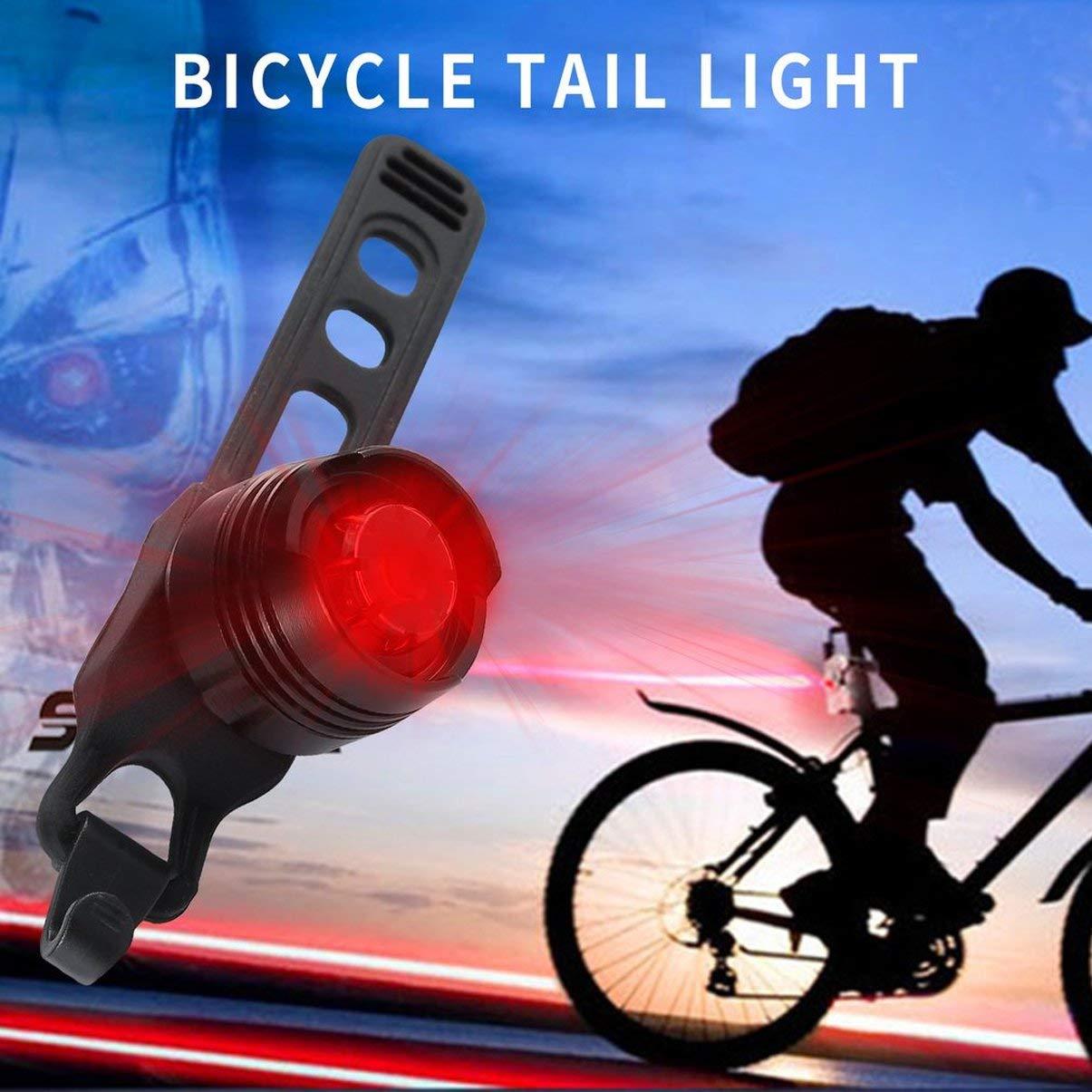 JullyeleEsgant LED Bicicleta Impermeable Casco Trasero Bicicleta Luces de Destello Rojas Lámpara de Advertencia de Seguridad Ciclismo Precaución Luz ...