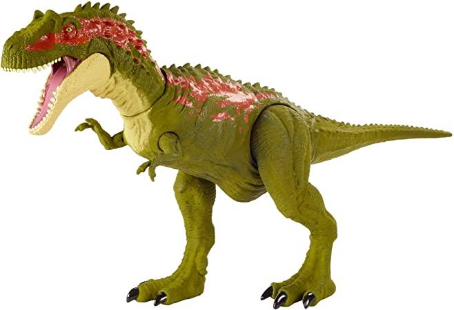 Jurassic World Albertosaurus Massive Biters Larger-Sized Dinosaur Action Figure with Tail-Activated Strike and Chomping Action, Movable Joints, Movie-Authentic Detail; Ages 4 and Up