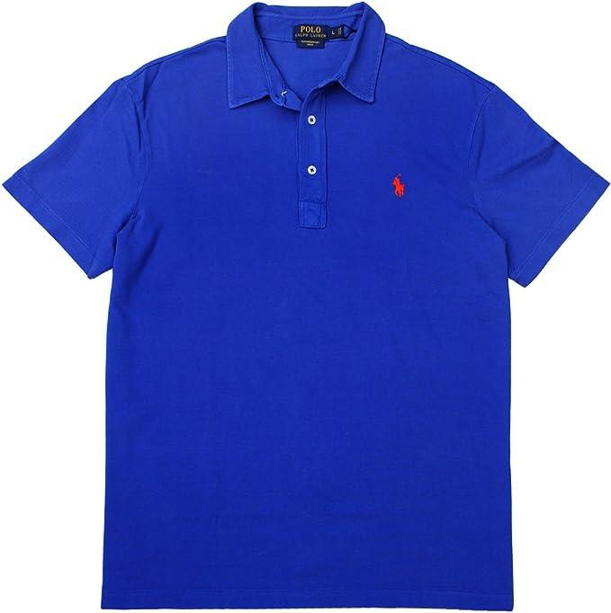 Para hombre Polo Ralph Lauren peso pluma Polo de malla camiseta ...