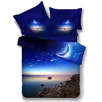 Bettwäsche Galaxy Set Baumwolle 3d Digitaldruck Weltall 2 Teilig