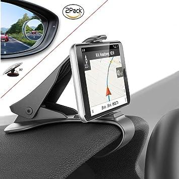 ZOORE Soporte para Teléfono de Coche incluir 2 Blind Spot Espejo,Soporte Móvil Coche GPS