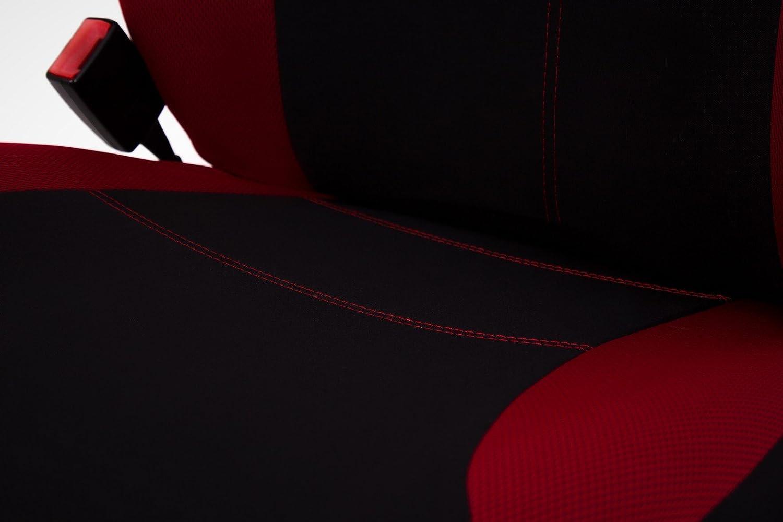 PKWelt Autositzbez/ü ge Sitzschoner Schonbez/ü zge Sitzauflagen Autositzbezug Sitzbezug Schwarz Rot vordere Sitze Custopol