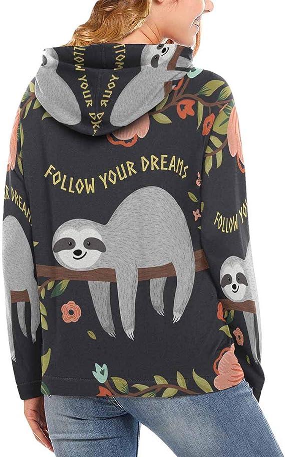 INTERESTPRINT Womens Crew Neck Sweatshirt Cute Pandas Long Sleeve Pullover Tops XS-XL