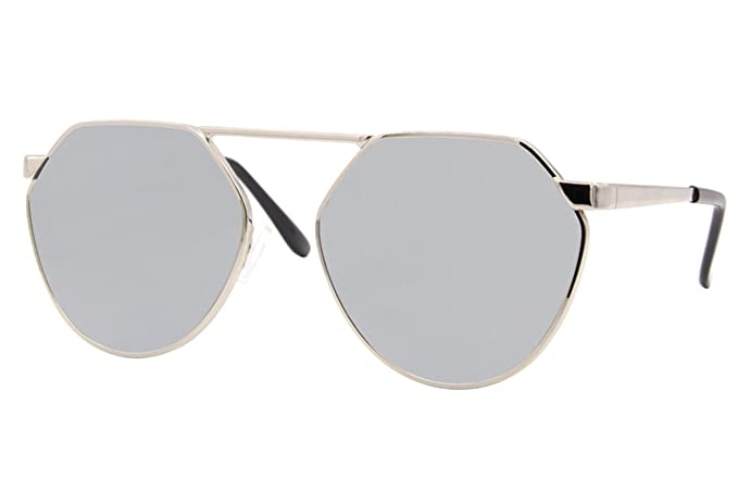 d15bc2d273002b Cheapass Sonnenbrille Rund Silber Verspiegelt UV400 Designer-Brille Elegant  Unisex