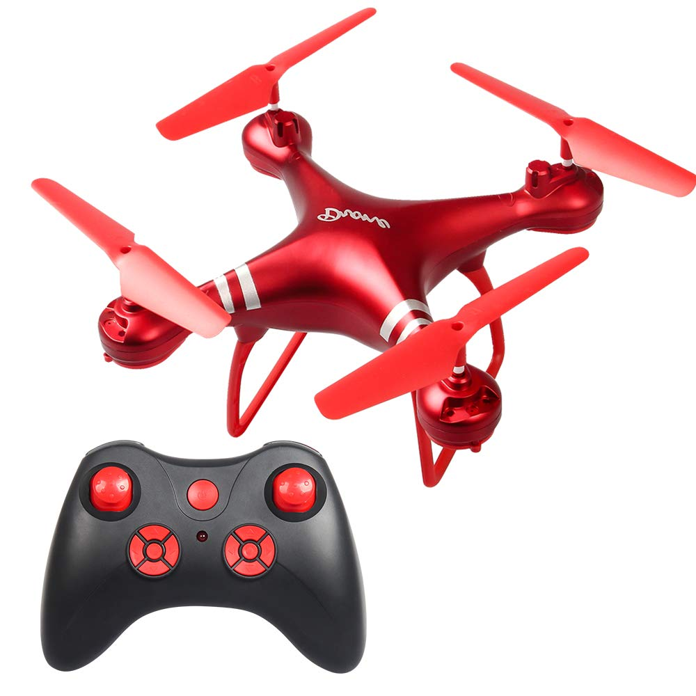 Juweishangmao LF608 WiFi FPV RC Drone Quadcopter, A Return Key Landing Off Without Head RC Quadcopter Drone,Long Flight Time,Basic Version,Color Red by Juweishangmao