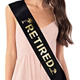 YULIPS Retired Sash - Retirement Party Supplies, Gifts, and Decorations