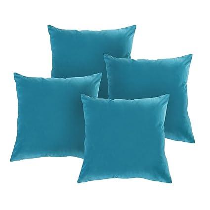 Teal Decorative Bed Pillows