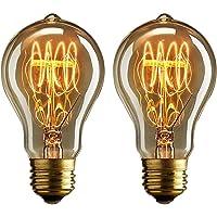 Dos bombillas vintage Edison de 40 vatios