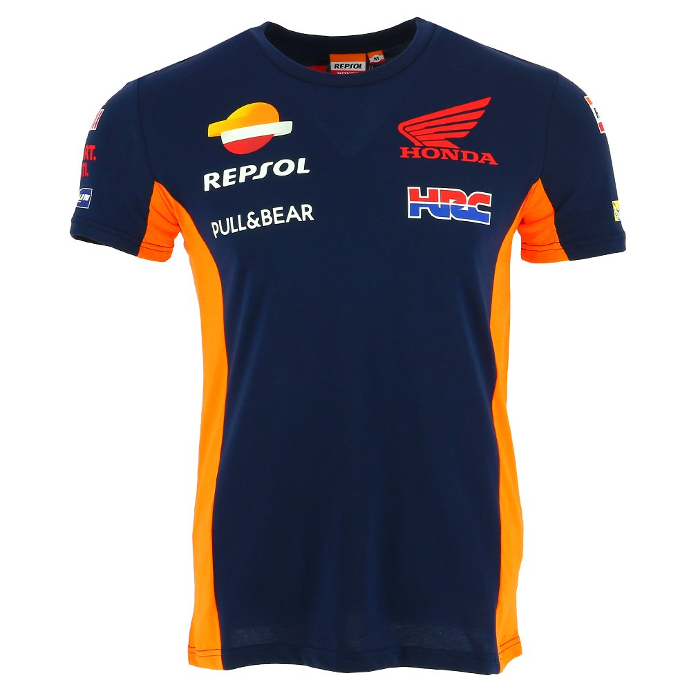 HONDA Repsol Moto GP Team Marquez, Pedrosa Camiseta Azul Oficial 2018