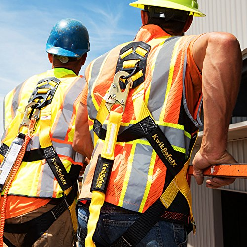 KwikSafety (Charlotte, NC) 4 PACK TORNADO 1D Fall Protection Full Body Safety Harness | OSHA ANSI Industrial Roofing Personal Protection Equipment | Construction Carpenter Scaffolding Contractor by KwikSafety (Image #8)