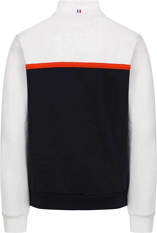 Le Coq Sportif Tech FZ Sweat Sweatshirt Kids 2010501 New Optical White Sky Captain