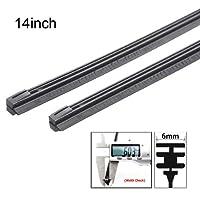 Zhuotop 2PCS 6mm auto gomma metallo spazzola tergicristallo refill 35,6cm/40,6cm/55,9cm/61cm/66cm