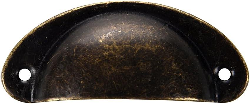 Tirador SODIAL(R)12 piezas Bronce Manilla para tirar de Puerta de aparador de cocina Gabinete Cajon Cascara de Muebles