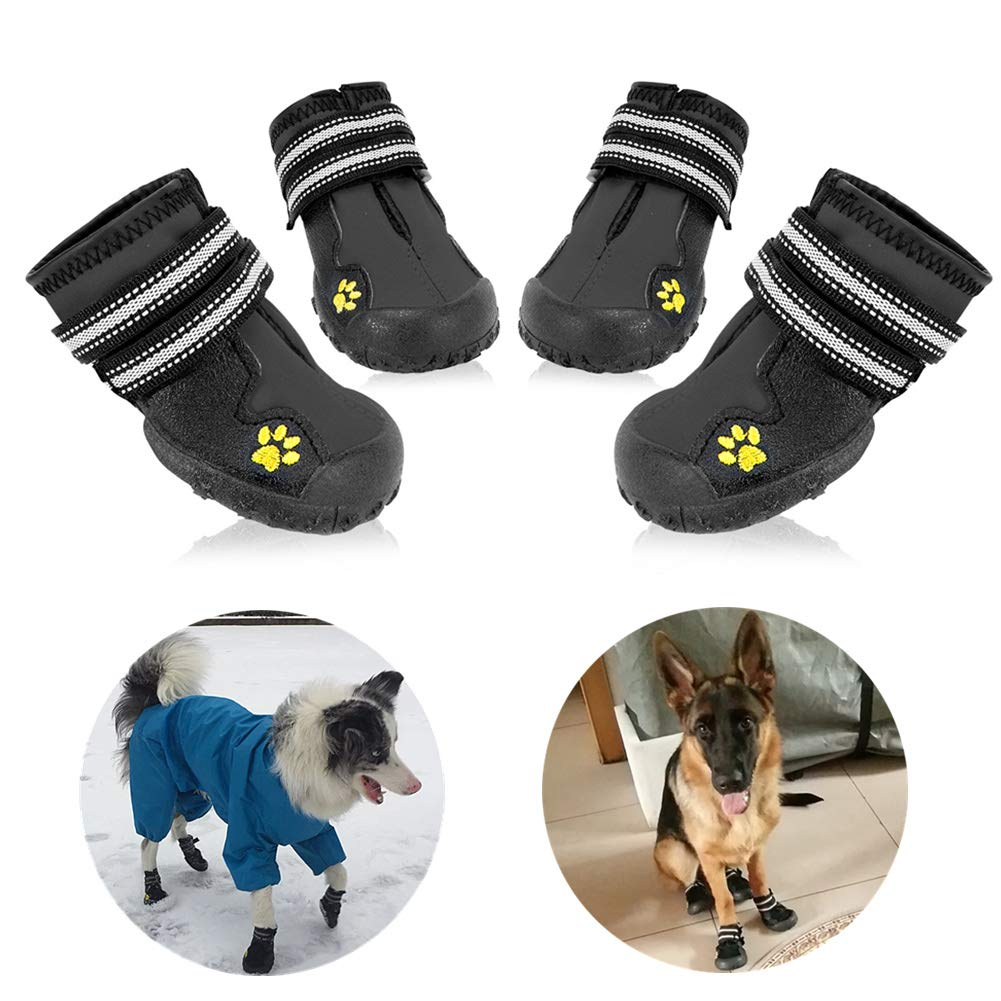 Black 5 (2.7\ Black 5 (2.7\ HiPaw Dog Boots Breathable Mesh for Hot Pavement Nonslip Rubber Sole Summer Large Medium Dog