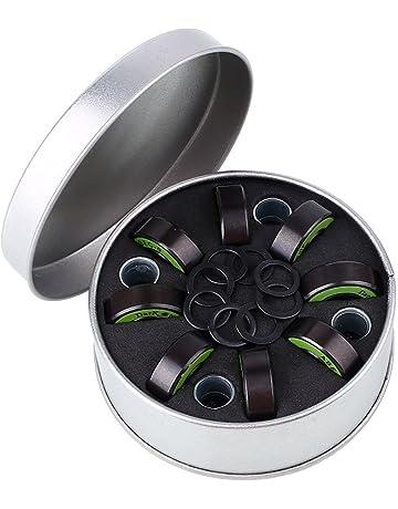 CAIDUD 8 Piezas de Patinaje Sobre Ruedas Patinaje Sobre Ruedas Rodamientos con Kit de arandela Negro