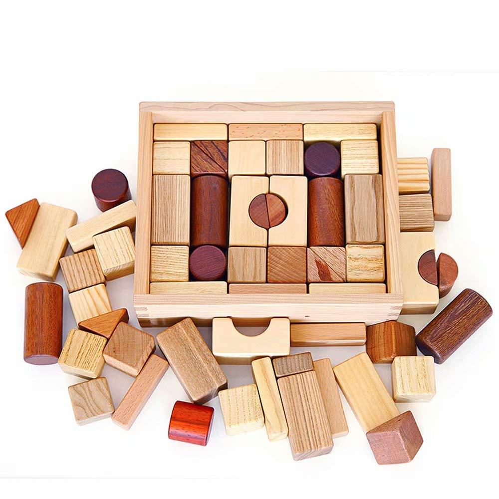 Bausteine \u200b\u200bSpielzeug aus Holz Baby 1-2 Jahre alt 3-6 Jahre alt Geschenke Baby Kinder Früherziehung Puzzle B07MC48WLZ Klassische Puzzles Neues Produkt | München