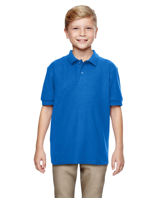 Gildan Boys DryBlend 6.3 oz. Double Piqué Sport Shirt (G728B) -Royal -M-12PK