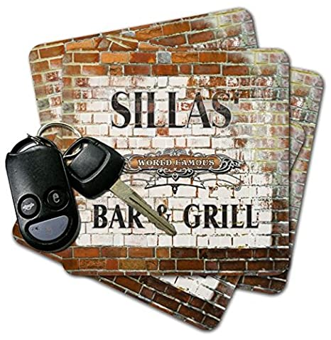 Amazon.com | SILLAS Bar & Grill Brick Wall Coasters - Set ...