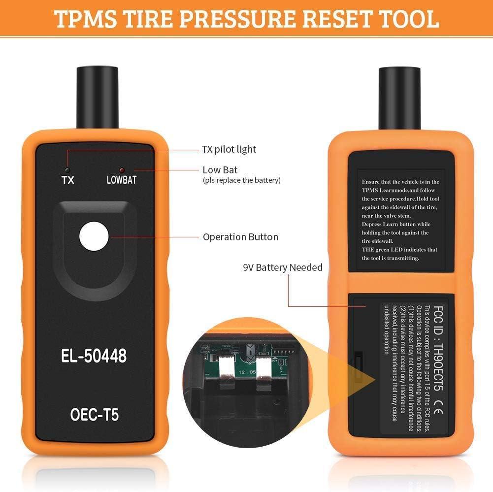MEYKISS EL-50448 Reifendruck kontrollsensor f/ür Kraftfahrzeuge TPMS Reset Relearn Activation Tool f/ür Fahrzeuge der Serie GM