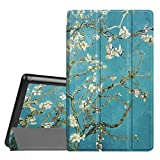 Fintie Slim Case for All-New Amazon Fire HD 8 Tablet (7th Generation, 2017 Release), Ultra Lightweight Slim Shell Standing Cover with Auto Wake/Sleep, Blossom