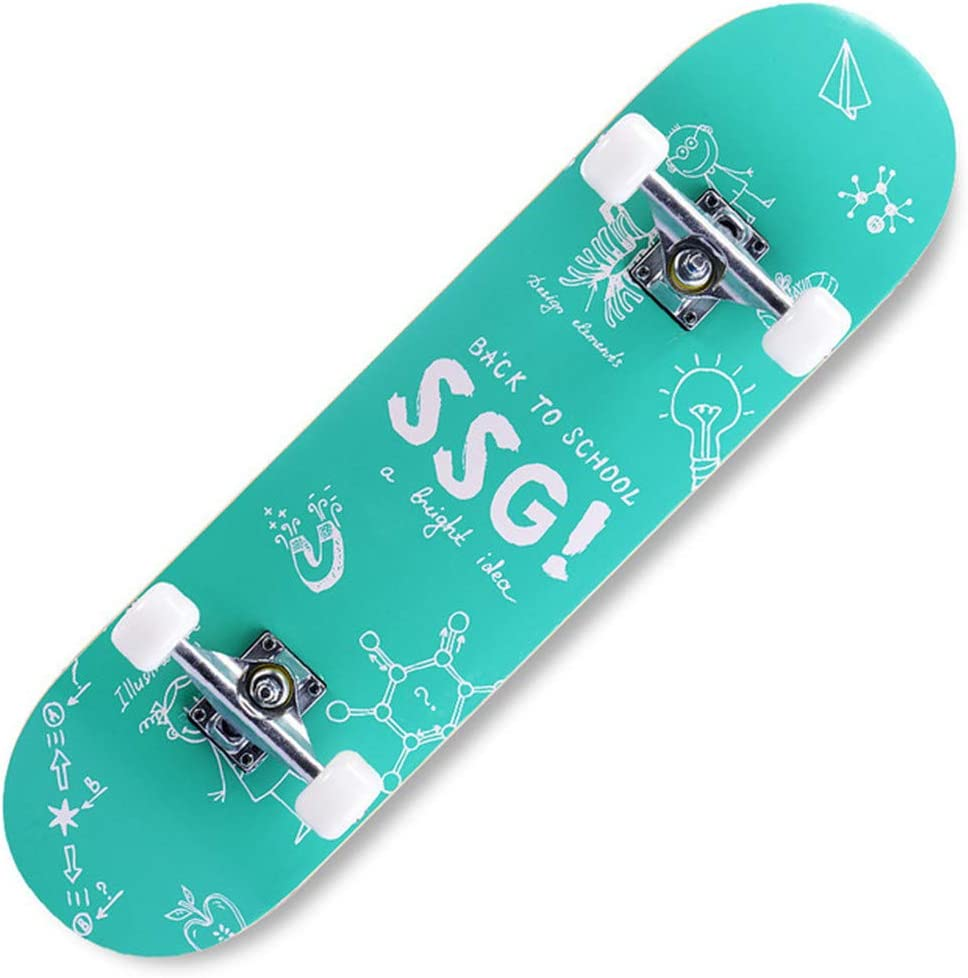 TTJZ Standard Skateboard Canadian Maple Doppel Kick-Concave Anf/änger Four Wheel Skateboard Brush Street Autobahn Kinder Erwachsener Doppel aufw/ärts Skateboard,Bumblebee