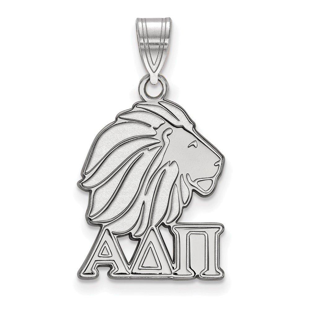 Sterling Silver Sterling Silver Rh-plated LogoArt Alpha Delta Pi Medium Pendant
