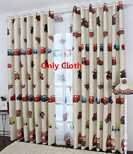 WPKIRA Window Treatment Blackout Curtains Room Darkening Thermal Insulated Blackout Grommet Top Window Curtain Printing Cartoon Cars Drapes Panel for Kids Bedroom,1 Panel W40 x L63 inch