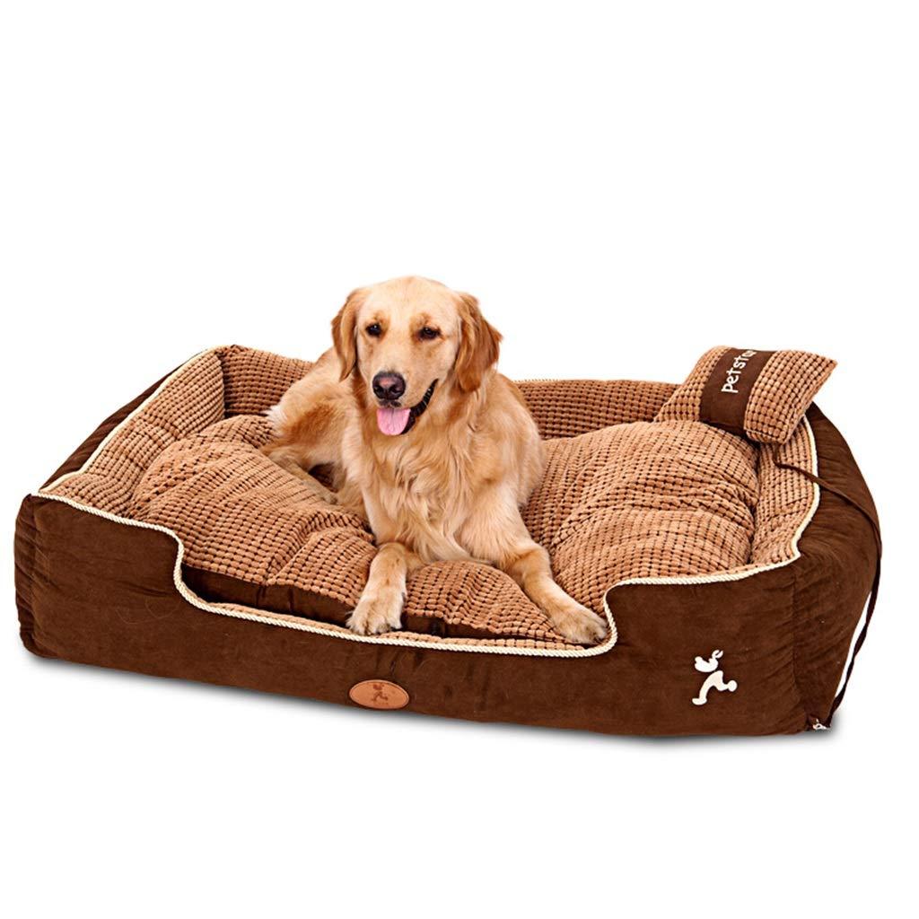 Cuccia cane Cuscino per Cane Letti per cucce ortopedici ortopedici ortopedici indistruttibili per Cani di Media Taglia Gatti Animali Domestici, Marronee cucce per Cani da Interno (Dimensioni   45×35×22CM) fdd102