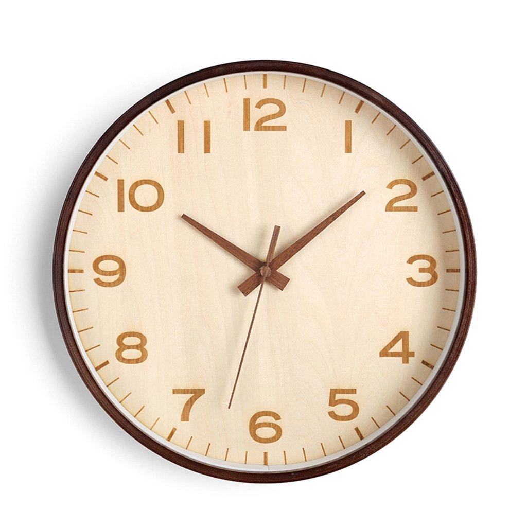 コーヒーショップサイレントウォールクロック、ベッドルームレストランフラワーショップバルコニーリビングルームベッドルームオフィス教室書店壁時計ソリッドウッド壁時計25.6-40.8CM (色 : B, サイズ さいず : 40.8*40.8CM) B07DHNF6S7 40.8*40.8CM|B B 40.8*40.8CM