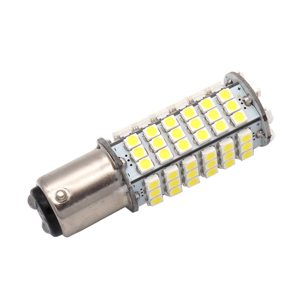 GRV Ba15d 176 1142 High Power Car LED Bulb 102-3528 SMD DC 12V Cool White Pack of 2