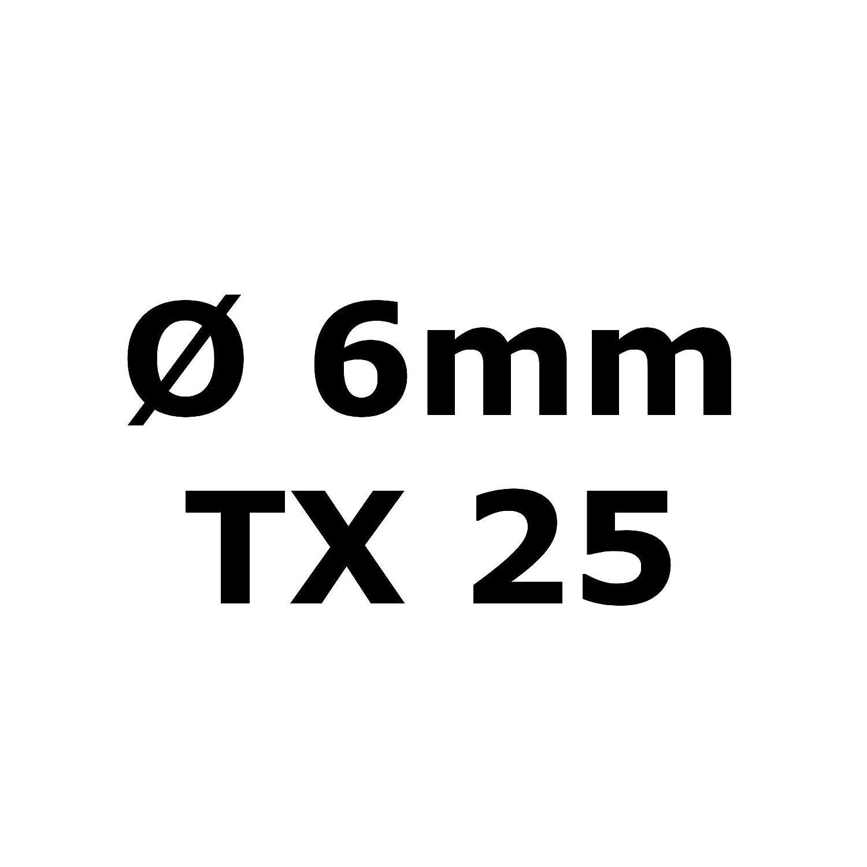 multicolore Vis Torx /à t/ête frais/ée en acier inoxydable V2A vis /à bois
