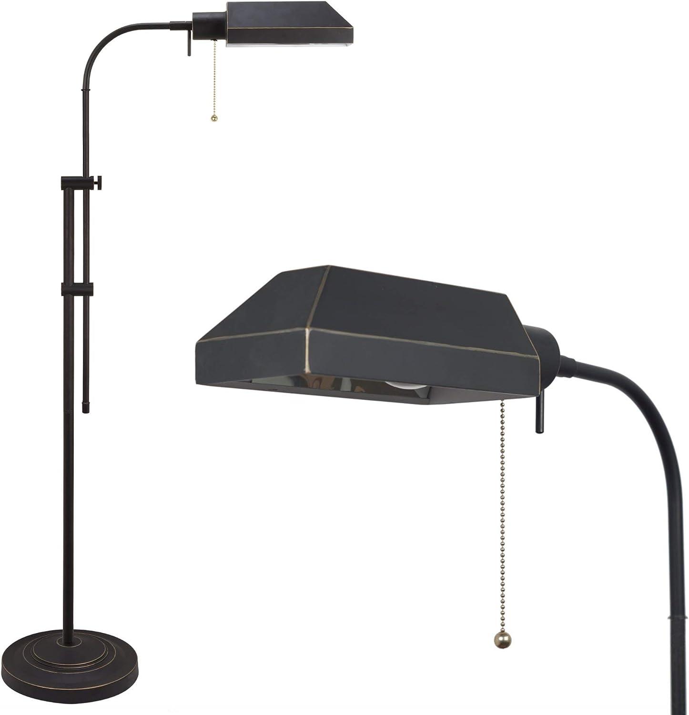 Kira Home Prescott 58 Modern Industrial Adjustable Standing Pharmacy Floor Lamp, Dark Bronze Finish, Includes 6W LED Bulb 60W eq. Energy Efficient, Eco-Friendly, Pivot Head for Hobby Precise Task