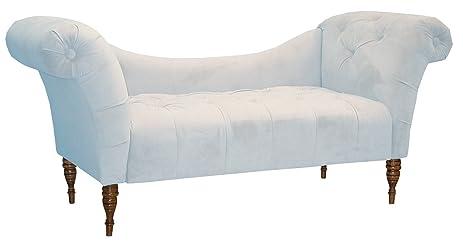 Skyline Furniture Roslyn Double Arm Tufted Chaise Lounge Pool Blue Velvet  sc 1 st  Amazon.com : blue velvet chaise lounge - Sectionals, Sofas & Couches