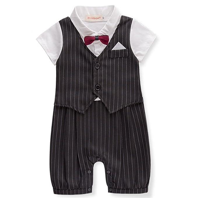 ARAUS Pelele Bebé Niño Conjunto de Una Pieza Estilo de Pantalones de Petos Verano 0-24 Meses