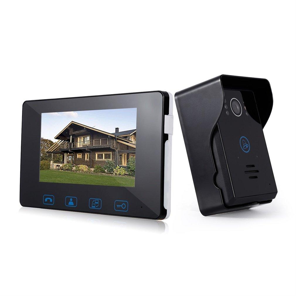 Amazon.com: Video Doorphone LESHP Door Camera 2-Wires Video Intercom ...
